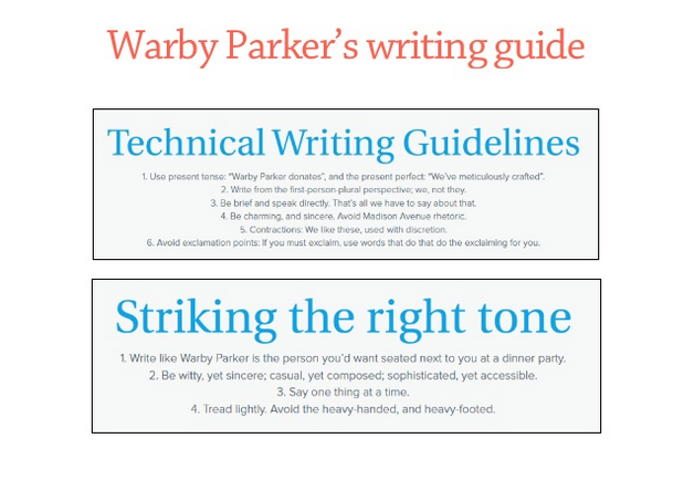 Warby Parker Style Guide